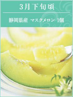 3月下旬頃 静岡県産マスクメロン1個