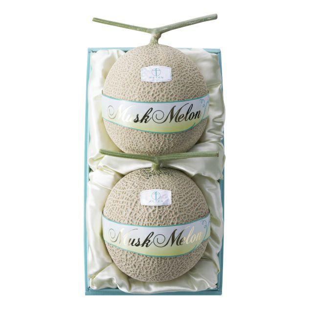 マスクメロン(化粧箱)2個入(各約1.25kg) No28